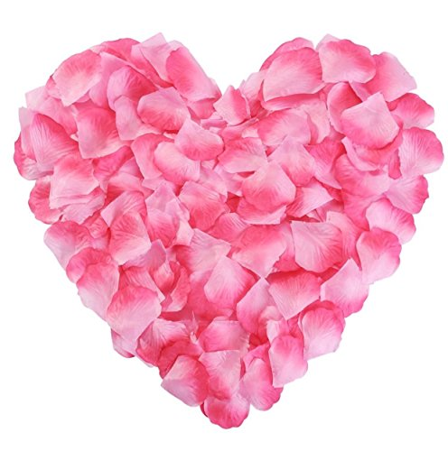 Pink Rose Petals Silk Flower Fake for Romantic Wedding