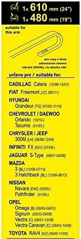 5.2000-11.2005 A2 Essuie-glaces FLAT SET RAV4 610+480mm