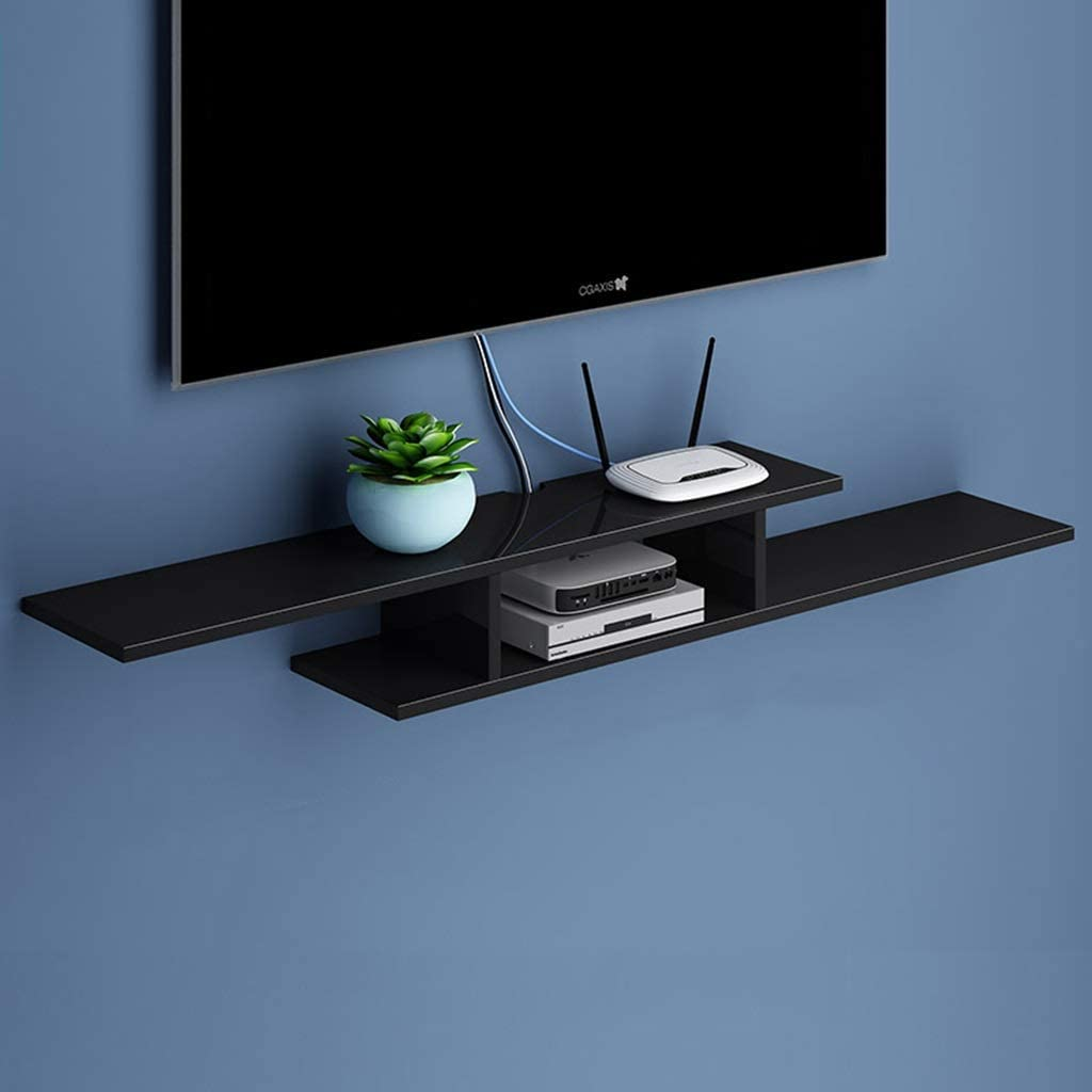 SjYsXm-Floating shelf Estante Estante Flotante Soporte de Pared Gabinete de TV Estante de Almacenamiento de Fondo de Pared para Reproductores de DVD/BLU-Ray Caja de TV satelital Caja de Cable: Amazon.es: Hogar