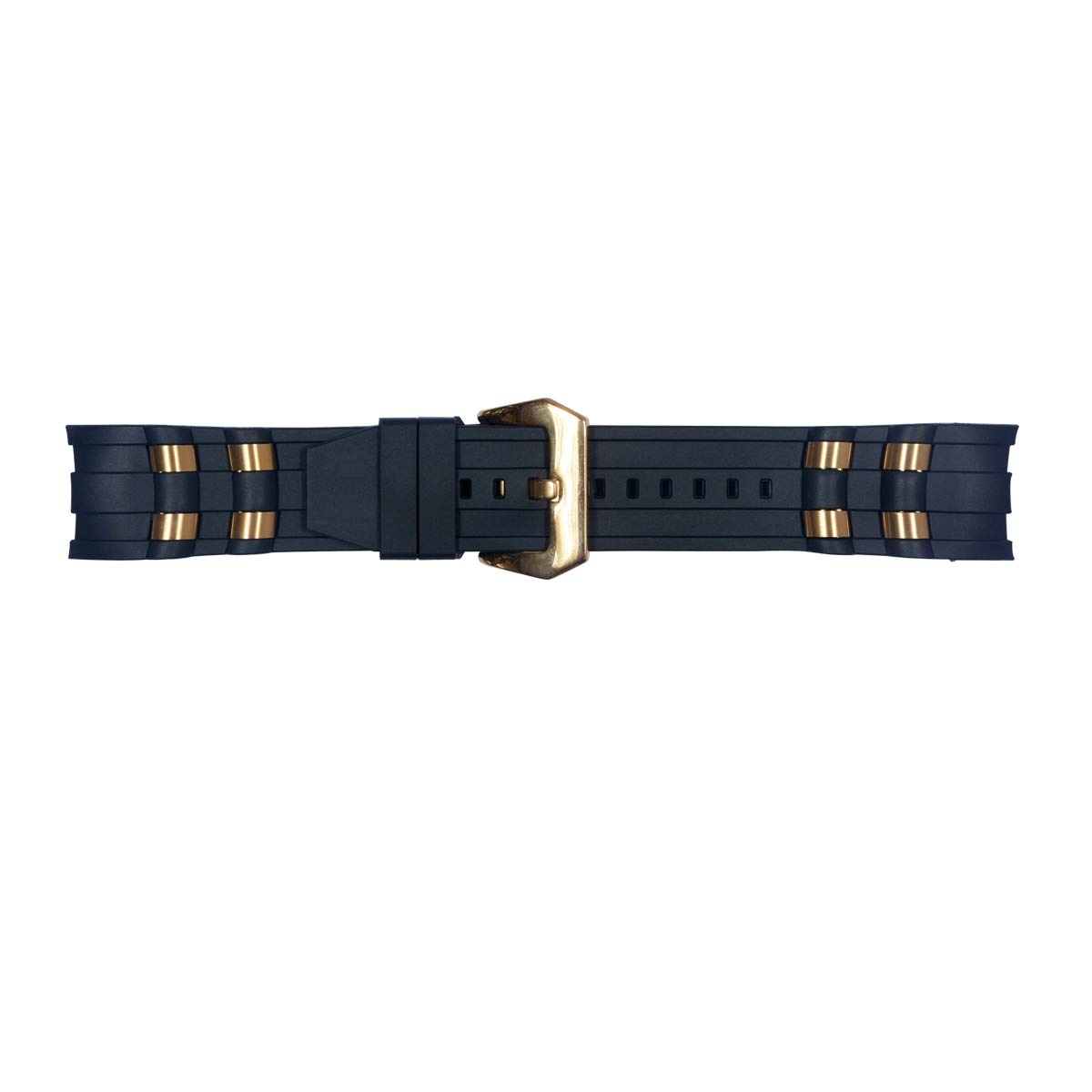 Vicdason for Invicta Pro Diver Watch Bands Replacement Strap with Bukcle Metal Inserts - Black Rubber Silicone Invicta Watch Strap by Vicdason (Image #3)