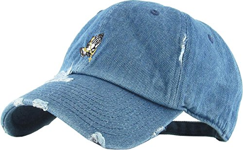 KBSV-061 MDM Praying Hands Vintage Rosary Distressed Dad Hat Baseball Cap Polo Style Adjustable