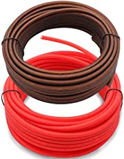 Welugnal 10 Gauge 26ft Black and 26ft Red Power/Ground Wire True Spec and Soft Touch Cable for Car Amplifier Automotive Trailer Harness Wiring