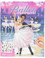 Depesche 11581 TOPModel Stickerworld Ball, stickerschrift voor meisjes, ca. 26 x 21 x 0,5 cm, met 20 balletmotieven en 108 stickers om op te plakken en te versieren, kleurrijk