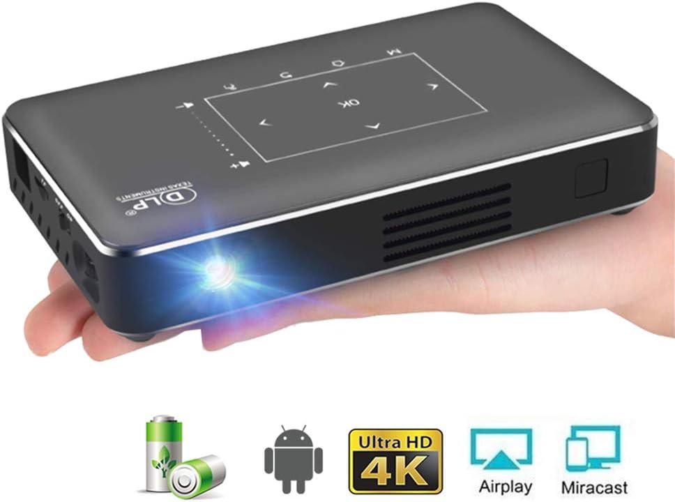 SEXTT Mini proyector 4K, Android 6.0 Bluetooth, batería 4100Mah ...