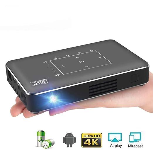 SEXTT Mini proyector 4K, Android 6.0 Bluetooth, batería ...