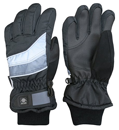 Large Product Image of N'Ice Caps Kids Bulky Thinsulate Waterproof Winter Snow Ski Glove With Ridges