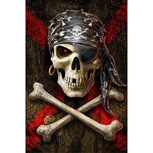 DIY Diamond Painting Kits - Halloween Skull?5D Full Drill Rhinestone Animals Painting Art Craft for Home -
