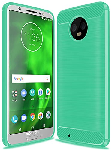 (Moto G6 Case, Moto G (6th Generation) Case, Suensan TPU Shock Absorption Technology Raised Bezels Protective Case Cover for Motorola Moto G6 5.7 Inch (Mint Green))
