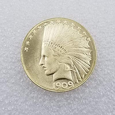 BoBoLing Rare 1909 $10-Dollars Nickel Replica Old Coins - American Historic US Old Coin -Carved Commemorative Eagle Coin for Boys/Girls/Adults Best QualityShop: Kitchen & Dining