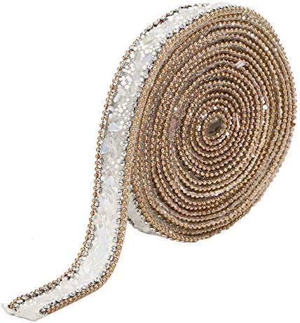 ラインストーンリボン ダイヤモンドリボン クリスタルラインストーン 服 カバン 靴 衣類飾り キラキラ 結婚式 装飾 工芸用(2CM)