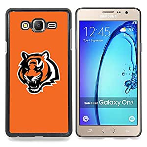 cool orange tiger roar Caja protectora de pl??stico duro Dise?¡Àado King Case For Samsung Galaxy On7 G6000