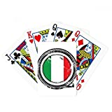 Italy National Flag Europe Country Mark Poker Playing Cards Tabletop Game Gift