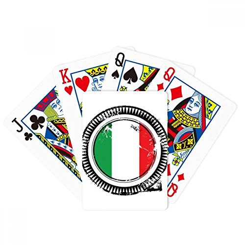 Italy National Flag Europe Country Mark Poker Playing Cards Tabletop Game Gift by beatChong