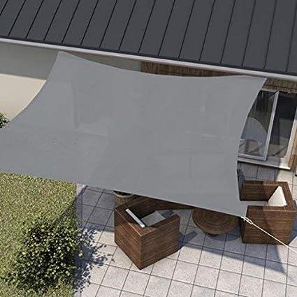 2x3m Protezione Antivento in Poliestere per Esterni con Kit in Acciaio Inossidabile CHUDAN Tenda Vela Parasole UV del 98/% delle Vele di Shade Sails