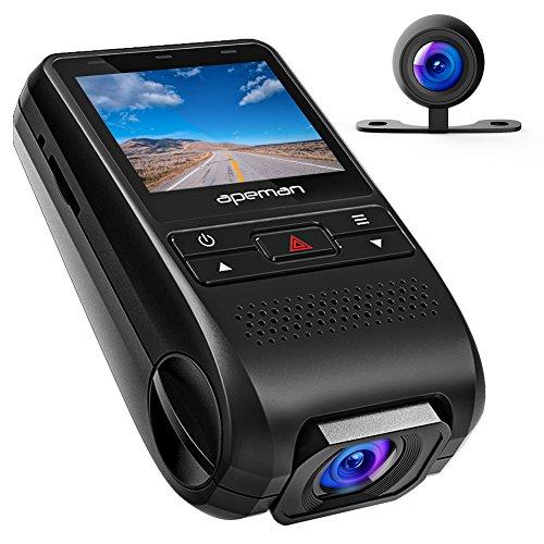 APEMAN 1080P FHD Dual In Car Dash Cam Camera DVR...