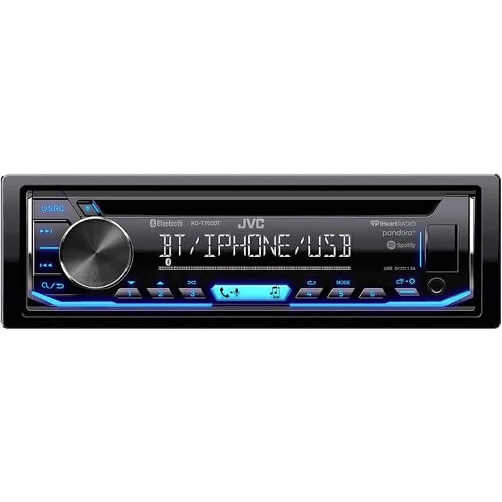 JVC KD-T700BT CD Receiver Featuring Bluetooth/USB / Pandora/iHeartRadio /  Spotify/FLAC / 13-Band EQ