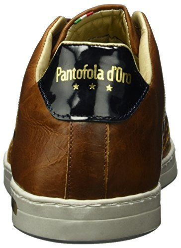 Uomo Auronzo Pantofola d'Oro Homme Baskets Low Perforazione Marron Jcu qtqA57