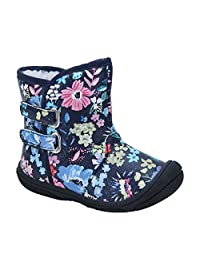 Kuner Baby Boys Girls Pu Leather Faux Fleece Rubber Soles Warm Outdoor Snow Boots