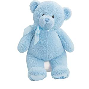 Amazon Com Gund Baby My First Teddy Large Blue Toys Games