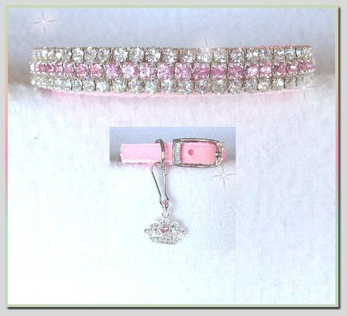 ~Pink Velvet Princess~ Rhinestone Dog Cat Pet Collar Sz EXTRA Small, My Pet Supplies