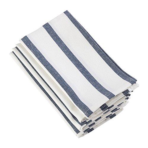 SARO LIFESTYLE 1834.NB20S Striped Design Square Cotton Napkin, Set of 4 20