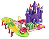 Toy Train Set Princess 51 PCS Toy Train Car & Track Playset w/ Battery Operated Toy Train, Accessories Educational Toy
