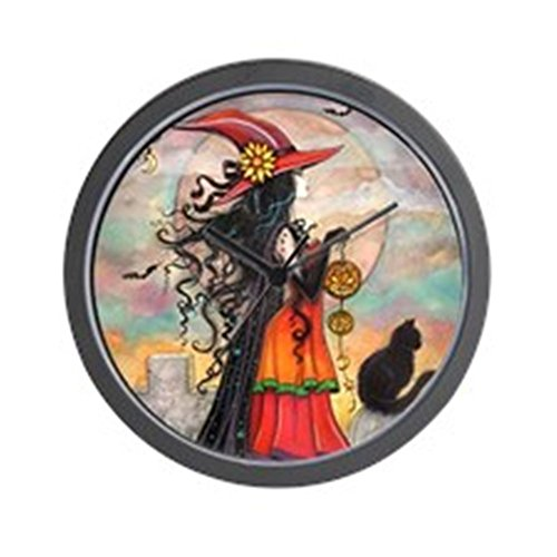 CafePress Witch Way Halloween Witch Art Unique Decorative 10