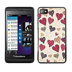 Be Good Phone Accessory // Dura Cáscara cubierta Protectora Caso Carcasa Funda de Protección para Blackberry Z10 // Vintage Decoration Gift Vignette
