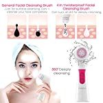 ETEREAUTY Facial Brush, Waterproof Facial Cleansing Brush 4-in-1 Set for Gentle Exfoliation and Deep Scrubbing