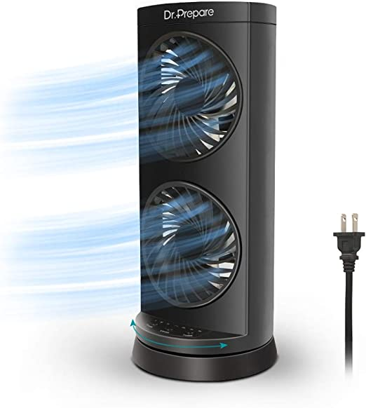 Tower fan with 2 speed levels /& USB plug