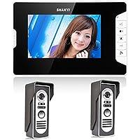 Ennio 7 Inch Video Door Phone Doorbell Intercom Kit 2-camera 1-monitor Night Vision