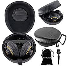 Nbbox Full Size Hardshell Earphone Headset Headphone Protection Case For Siberia v2, v3, RAW Prism, Siberia 200, 800, Gaming Headset and PC 323D Gaming Headset With Brush, Velvet Bag