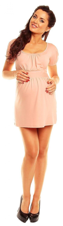 Womens Maternity Empire Waist Ruched Neck Stretch Top 10-18 408c Zeta Ville
