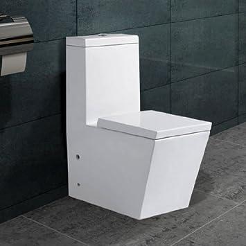 Lux-aqua Stand WC Eckig Spulkasten Nano Beschichtu ng SoftClose A389 ...