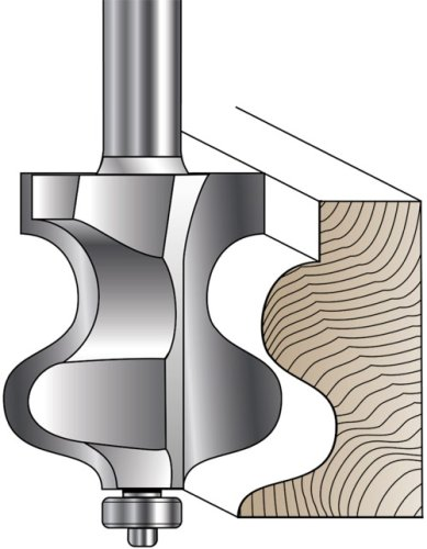 MLCS Traditional Ogee Foot Molding Router Bit, 1/2