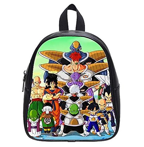 Dragon Ball Z Custom nuevo niños mochila bolso de escuela para niños (Pequeño)
