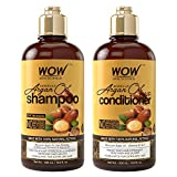 Beauty : WOW Moroccan Argan Oil Shampoo & Conditioner Set (16.9 Fl Oz Each) - Increase Moisturization, Hydration For Dry, Damaged Hair Repair - No SLS, Parabens or Sulfates - All Hair Types For Men & Women