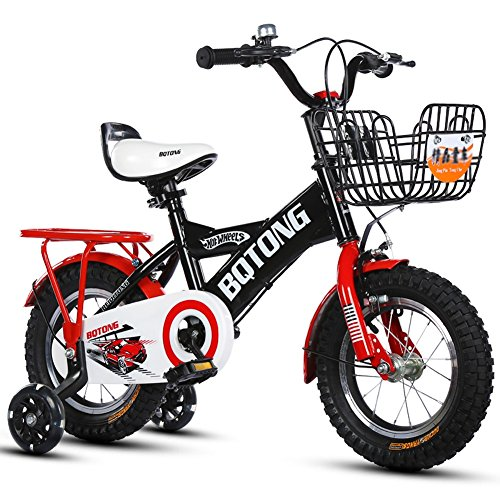 """Price comparison product image YXGH- Children's Bicycle Baby's Bike 2-4-6 Years Old Cycling 12-14-16-18 Inches Boys And Girls Foot Stroller with Rear Seat (Color : Red, Size : 16"""")"""