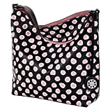 Pink Dot Reversible Hobo with inner pouch Purse