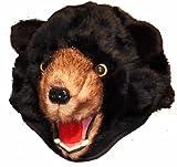 Black Bear Furry Plush Animal Hat - Unisex