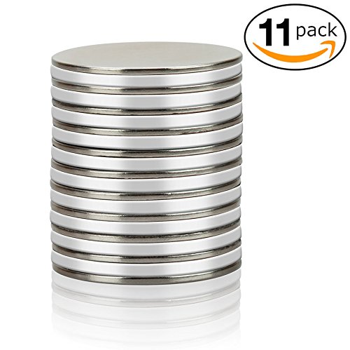 (Thin Round Disc Magnets - Diy Strong Neodymium N45 for Refrigerator Button DIY Cup Magnet Craft Hobbies, Science Projects and School Crafts)