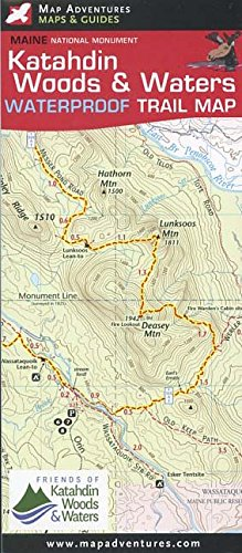 Katahdin Woods Waters Waterproof Trail Map: Cartographer Steven ...
