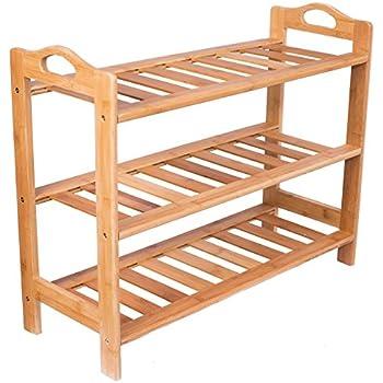 Amazon.com: Relaxdays – Zapatero de bambú, con 2 estantes ...