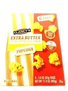 Amazon.com: Clancy's Extara Butter Microwave Popcorn Bags