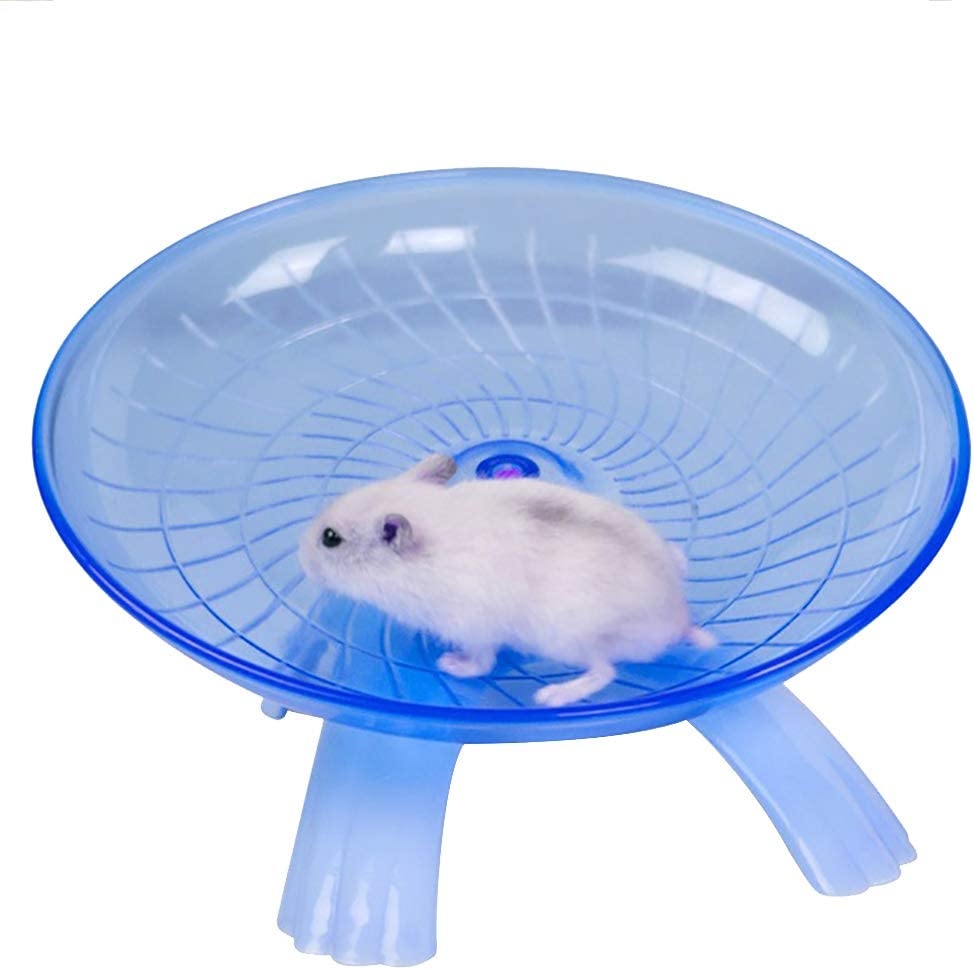 Ukallaite Funny Hamster Toy Pet Hamster Flying Saucer Exercise Wheel Mouse Running Disc Toy Cage Accessories Pet Supplies