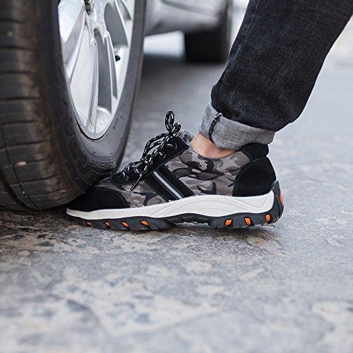 Acero Calzado Unisex Hombre Zapatos De Punta Seguridad Entrenador Mujer Trabajo Zapatillas Senderismo Negro I0wSpxvn