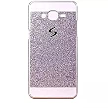 Coque Case for Samsung Galaxy J1 (2015) J100 J100H, KSHOP Bling Glitter Etui Housse Cover Sparkling PC Hard Back Case Bright Shinning Skin Cover for Samsung Galaxy J1 (2015) J100 J100H, Silver Argent