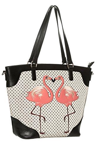 Bag Cream Banned Flamingo Handbag Shoulder 'Blair' Dot Vintage Retro Polka Apparel vU8SUB