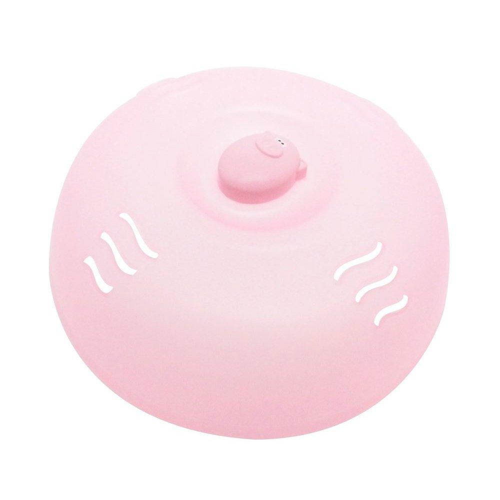 Joie Oink-Oink Plastic Pig Microwave Plate Lid Cover, Prevent Splatter, Pink