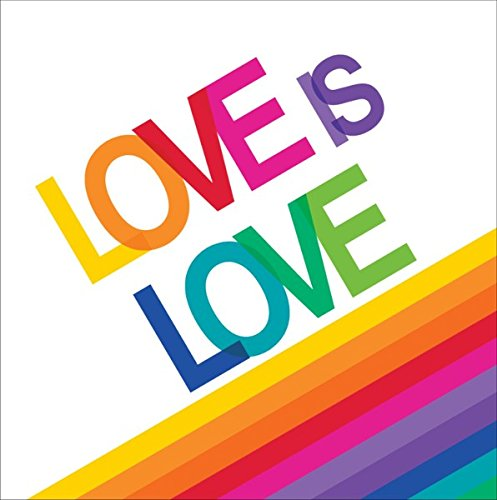 Love Lunch Napkins - Rainbow 'Love Is Love' Lunch Napkin (Qty 16)
